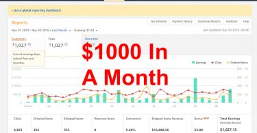 Amazon Affiliate Case Study 1k Month Featured Image